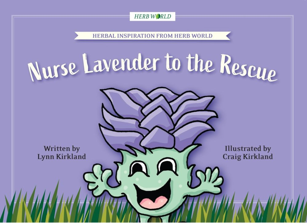 Herb World Book - Nurse Lavender to the Rescue